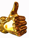 Golden Thumbs Up Stock Image