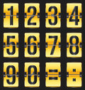 Golden timetable numbers Stock Photo