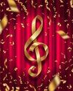 Golden treble clef Royalty Free Stock Photo