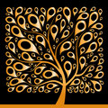 Golden tree beautiful, square shape Royalty Free Stock Image