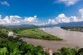Golden Triangle at Mekong River, Chiang Rai Province Royalty Free Stock Photo