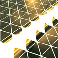 Golden triangles background gold plates forming the triangular surface Stock Photos