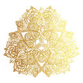 Golden tribal mandala Royalty Free Stock Photo