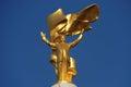 Golden Turkmenbashi Statue Royalty Free Stock Photo