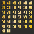 Golden type-squares Royalty Free Stock Images