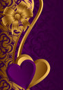 Golden Valentine. Royalty Free Stock Photo