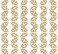 Golden vector abstract geometric seamless pattern with triangles, hexagonal grid