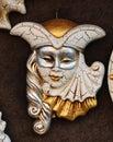 Golden Venetian mask Royalty Free Stock Photo
