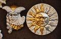 Golden Venetian masks Royalty Free Stock Photo