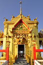 Golden Viharn at Wat Chin Wararam Stock Photo