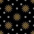 Golden vintage decor seamless pattern