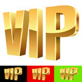Golden vip abbreviation isolated on white with color background samples Royalty Free Stock Photography