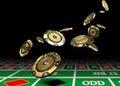 Golden vip casino chips Royalty Free Stock Photo