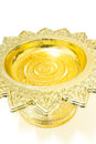 Golden ware on white background Royalty Free Stock Photos