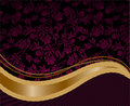 Golden wave on a purple background Royalty Free Stock Images