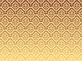 Golden wavy patterns Stock Image