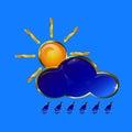 Golden weather icon