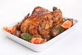 Golden Whole Roasted Chicken Royalty Free Stock Images