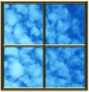 Golden window frame Royalty Free Stock Images