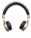 Golden wireless audio hifi headphone isolated on white Stock Photo