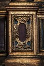 A golden wooden detail from the church Royalty Free Stock Photo