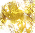 Golden wrapping paper or satin texture Stock Image