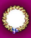Golden wreath frame Royalty Free Stock Photos