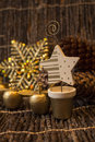 A Golden Xmass decorations Royalty Free Stock Photo