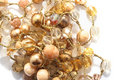 Golden and yellow beads Royalty Free Stock Photography