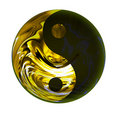 Golden Yin Yang symbol Royalty Free Stock Image