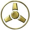 Goldene Bandspule des Film-3D Lizenzfreies Stockfoto
