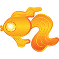 Goldfish with diamond eye on white vector design Royalty Free Stock Image