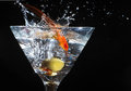 Goldfish Martini. Royalty Free Stock Images