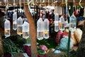 Goldfish in Platic Bag Hanging Oriental Zoo Market Royalty Free Stock Photo