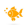 Goldfish isometric flat icon. 3d vector