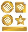 Goldish - Calculator Royalty Free Stock Photo