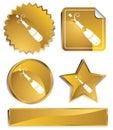 Goldish - Champagne Bottle Royalty Free Stock Photo