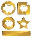 Goldish - Piggy Bank Royalty Free Stock Photo