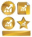 Goldish - Stock Rise Royalty Free Stock Photo
