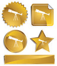 Goldish - Telescope Royalty Free Stock Photo
