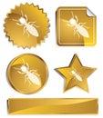 Goldish - Termites Royalty Free Stock Photos