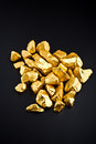 Goldnuggets Stockfoto