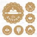 Golds logo bakery label vector