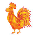 Goldy rooster vector illustration Royalty Free Stock Photo