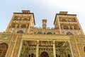 Golestan palace towers edifice of the sun royal oldest groups buildings in persian capital was rebuilt to its current form Stock Images