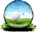 Golf background eps this is editable vector illustration Stock Image