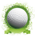 Golf ball background design Stock Images