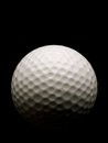 Golf Ball on black Royalty Free Stock Photo