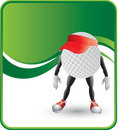 Golf Ball Character with visor Stock Images