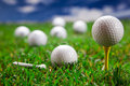 Golf ball closeup Stock Photography